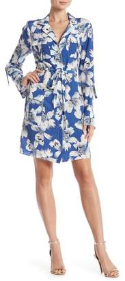 Nicole Miller Safari Printed Silk Shirt Dress