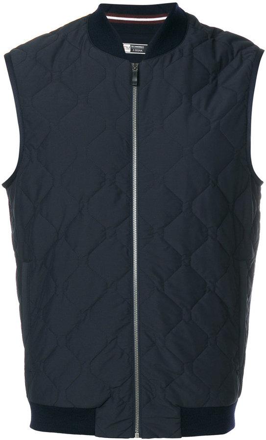 Z Zegna quilted sleeveless jacket