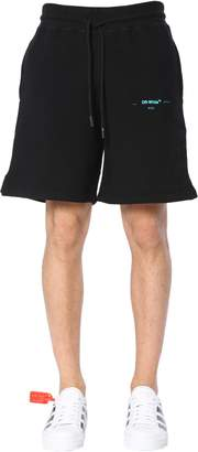 Off-White Off White Shorts With Logo Print