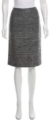 Ellen Tracy Tweed Wool-Blend Skirt
