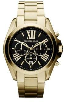 Michael Kors Bradshaw Chronograph Goldtone IP Stainless Steel Bracelet Watch