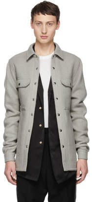 Rick Owens Grey Outershirt Jacket
