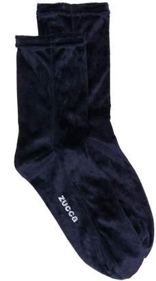 Zucca logo velvet socks