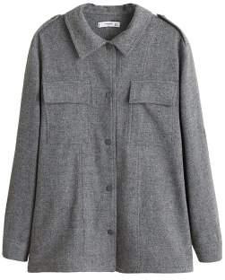 MANGO Wool-blend overshirt