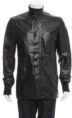 Christian Dior Zip-Front Leather Jacket