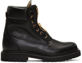 Balmain Black Perforated Taiga Boots $1,195 thestylecure.com