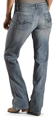 Wrangler Women's Medium Wash Boot Cut Jeans Med Blue