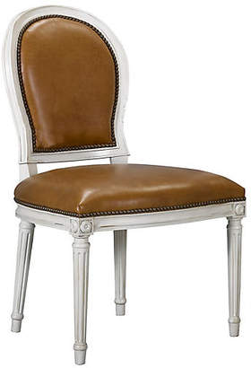 St. Pierre Side Chair - Saddle Leather - Mark D. Sikes
