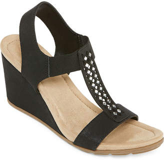 a20589212d08 ST. JOHN S BAY Black Women s Sandals - ShopStyle