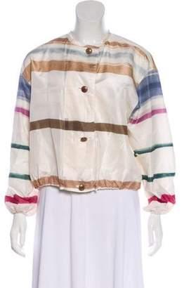 Giorgio Armani Silk Striped Jacket