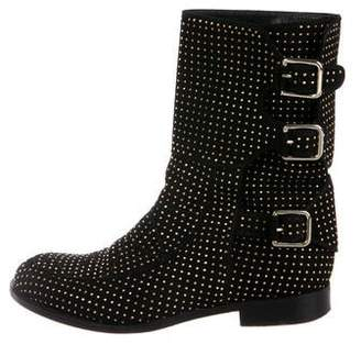 Laurence Dacade Studded Suede Ankle Boots