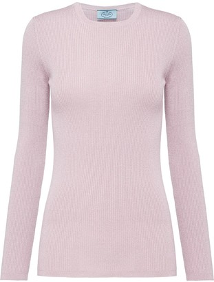 Prada lamé sweater