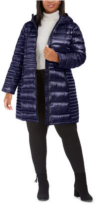 Calvin Klein Plus Size Hooded Packable Puffer Coat