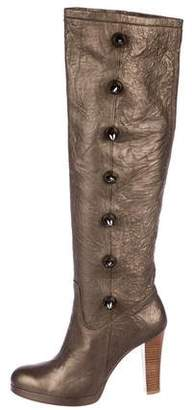 Thomas Wylde Studded Knee-High Boots