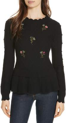 Kate Spade embroidered sweater