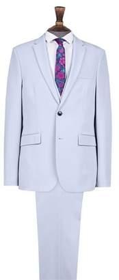 Mens Light Blue Skinny Fit Suit Jacket