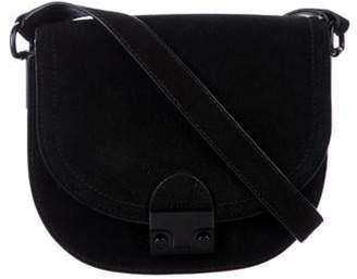 Loeffler Randall Suede Saddle Crossbody Bag Black Suede Saddle Crossbody Bag