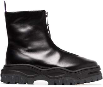 Eytys Raven Zip Up Leather Boots