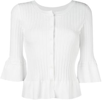 Twin-Set ruffled hem fitted cardigan $158.90 thestylecure.com