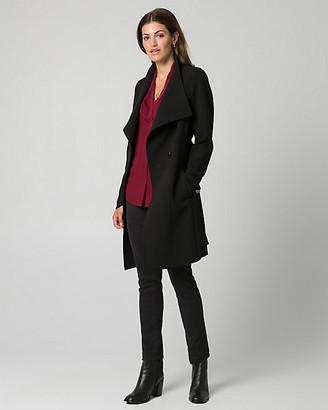 Le Château Double Weave Convertible Collar Wrap Coat