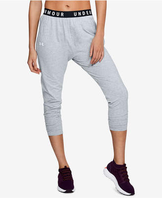 Under Armour Favorite Tapered Cropped Relaxed Sweatpants