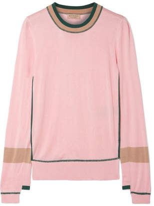 Burberry Mancos Silk And Cashmere-blend Sweater - Pink