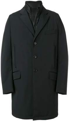 Fay hybrid single breasted coat