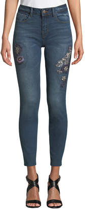 Black Tape Mid-Rise Jeweled Skinny Jeans