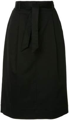 YMC high-waisted midi skirt