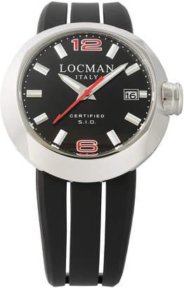 Locman (ロックマン) - LOCMAN ラウンドウォッチ デイト表示 取替ベルト付 ケース:ブラック ベルト:ブラック、レッド