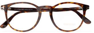 Tom Ford Round-Frame Tortoiseshell Acetate Optical Glasses