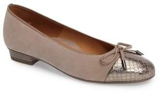 ara 'Betty' Cap Toe Flat (Women)