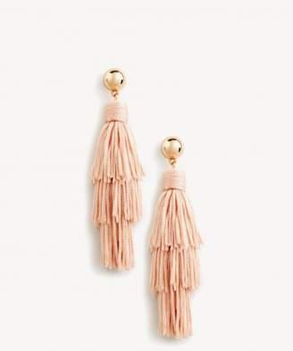Sole Society Triple Tiered Tassel Earrings