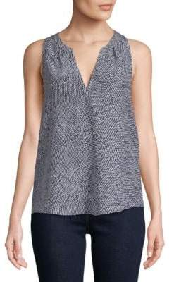 Joie Fifi Silk Sleeveless Tunic Blouse