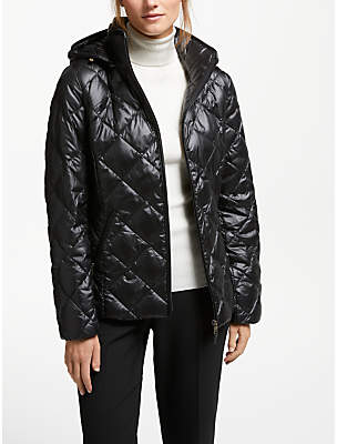 Ralph Pearl Sheen Quilted Coat, Black