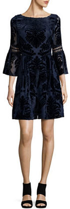 Eliza J Embroidered Poet Sleeve Dress $188 thestylecure.com