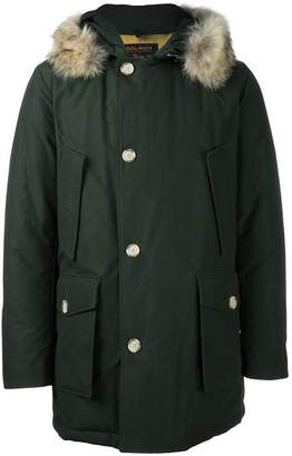 Woolrich trim detail hooded parka