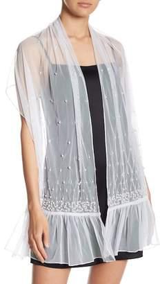 Betsey Johnson Pearl Shimmer Embellished Wrap