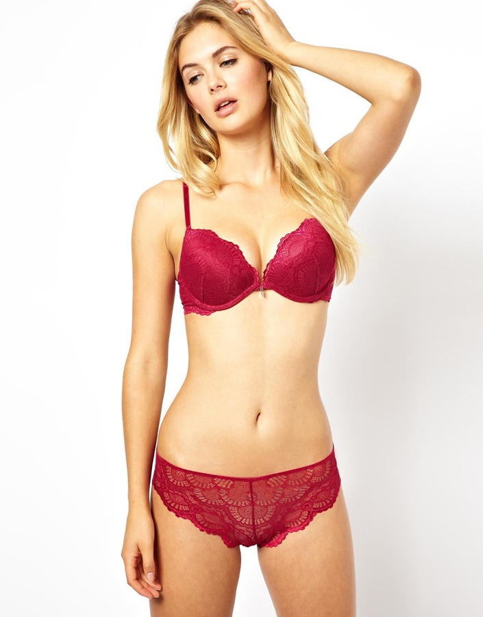 Ultimo The One Lace Winter Berry Plunge Bra