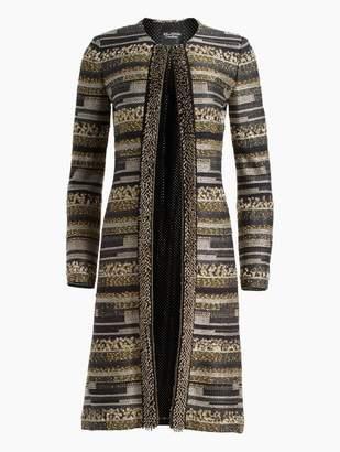 St. John Gilded Eyelash Engineered Inlay Knit Jacket