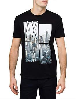 Armani Exchange City Logo Print Tee