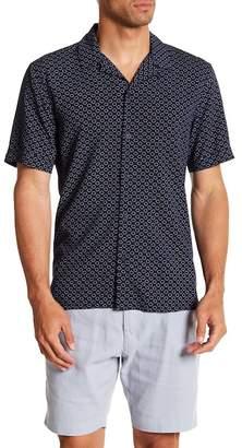 Toscano Short Sleeve Print Woven Shirt