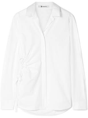 Alexander Wang Cutout Cotton-poplin Shirt - White