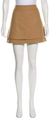 Rachel Zoe Wool-Blend Mini Skirt