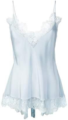 Stella McCartney open back lace trim camisole
