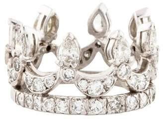 Ring Platinum Diamond Cocktail