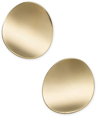 Kate Spade Gold-Tone Curved Disc Stud Earrings