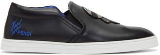 Fendi Black Karlito Slip-On Sneakers