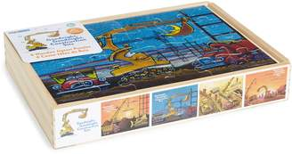 Kids Preferred Set of 4 Goodnight Goodnight, Construction Site 24-Piece Wooden Puzzles
