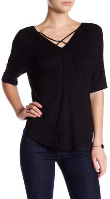 Olivia Sky Cross Front Tee $58 thestylecure.com